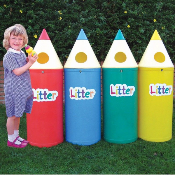 Set of Four Pencil Bins with